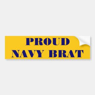 Bumper Sticker Proud Navy Brat Car Bumper Sticker