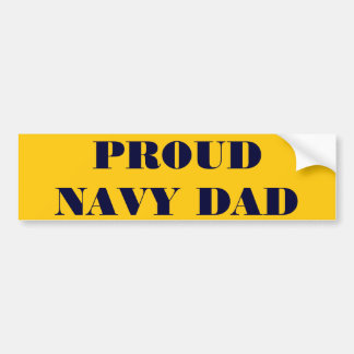 Bumper Sticker Proud Navy Dad Car Bumper Sticker
