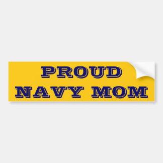 Bumper Sticker Proud Navy Mom Car Bumper Sticker