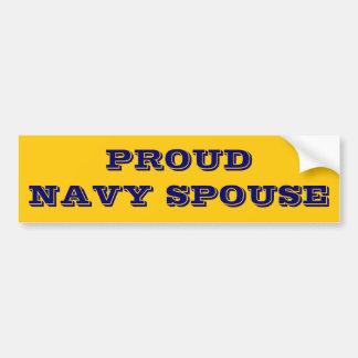 Bumper Sticker Proud Navy Spouse Car Bumper Sticker