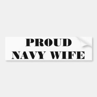 Bumper Sticker Proud Navy Wife