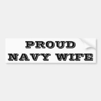 Bumper Sticker Proud Navy Wife Car Bumper Sticker