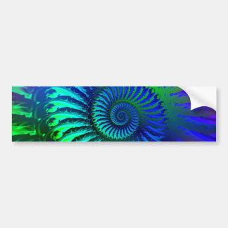 Bumper Sticker- Psychedelic Fractal blue terquoise Bumper Sticker