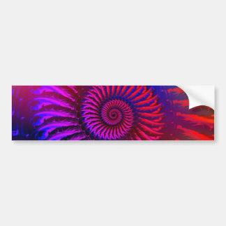 Bumper Sticker - Psychedelic Fractal pink red