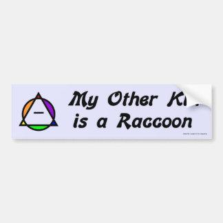 Bumper Sticker -  Raccoon Car Bumper Sticker