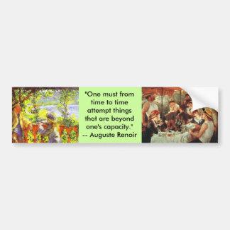 Bumper Sticker : Renoir Quote