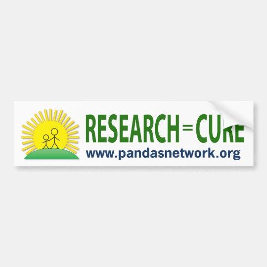 Bumper Sticker: Research = Cure Bumper Sticker