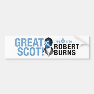Bumper Sticker. Robert Burns, a Great Scot! Bumper Sticker