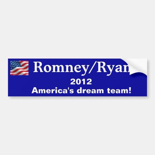 Bumper Sticker Romney/Ryan 2012