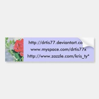 bumper sticker rose