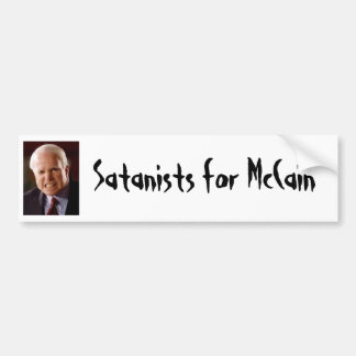 Bumper Sticker: Satanists for McCain Bumper Sticker