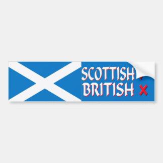Bumper Sticker Scottish Yes British No
