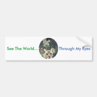 "Bumper Sticker ""See The World Through My Eyes"" Cat"
