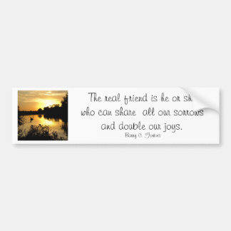 Bumper Sticker - Sunset Swan Lake with quote