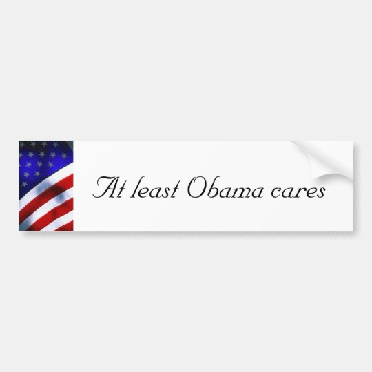 Bumper sticker supporting President's efforts