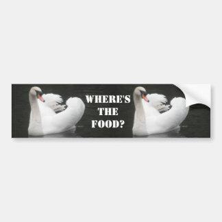 Bumper Sticker, Swan Swimming Bumper Sticker