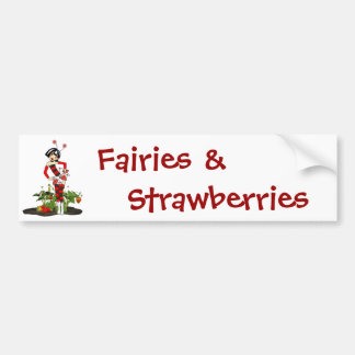 Bumper Sticker-Sweet Fairy Strawberry Bumper Sticker