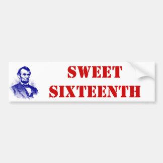 Bumper Sticker Sweet Sixteenth Abraham Lincoln