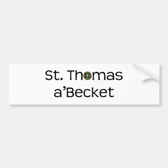 bumper sticker: text name with rose window bumper