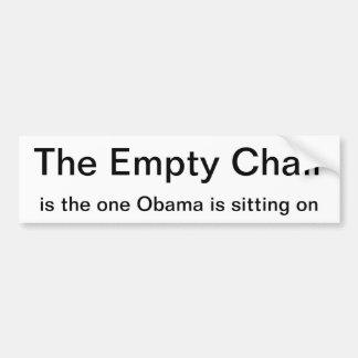 Bumper sticker - The Empty Chair