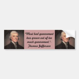 Bumper Sticker : Thomas Jefferson