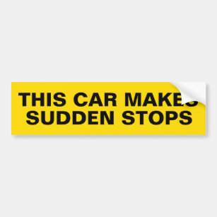 Bumper Sticker to Deter Tailgaters