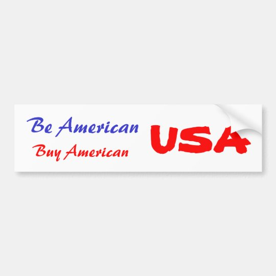 Bumper Sticker USA