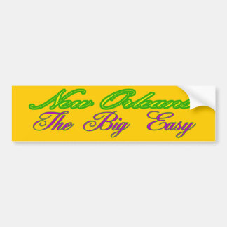 Bumper Sticker Visual Nickname New Orleans Promote