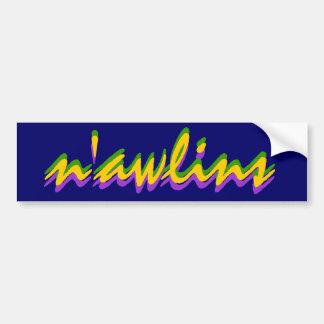 Bumper Sticker Visual NOLA New Orleans n'awlins
