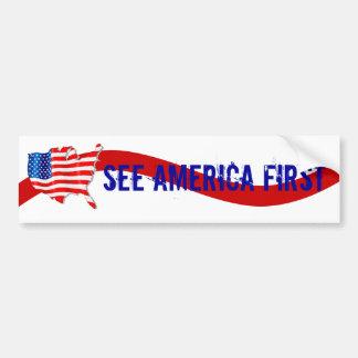 Bumper Sticker Vntg Campaign to See America First
