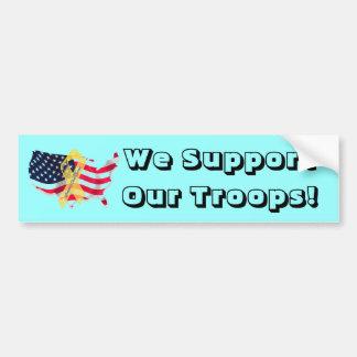 Bumper Sticker, we support our troops Bumper Sticker
