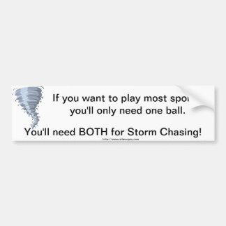 Bumper Sticker weather storm chaser balls