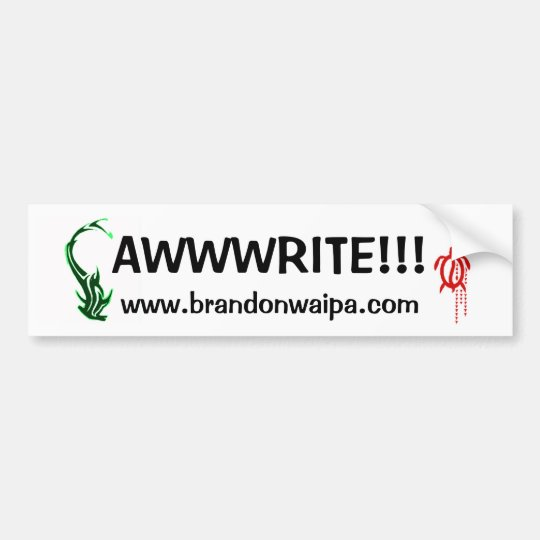 BUMPER STICKER - WEBSITE - AWWWRITE!!!
