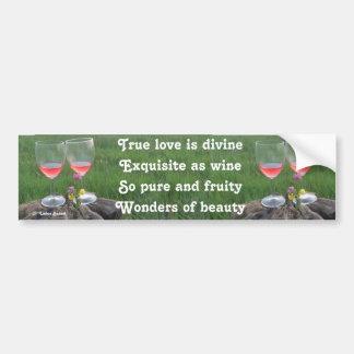 Bumper Sticker Wine Poem By Ladee Basset