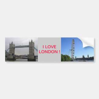 Bumper Sticker with London Eye Ferris Wheel