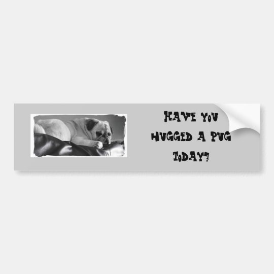Bumper sticker with Pug