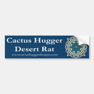 Bumper Sticker with Saguaro Mandala