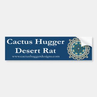 Bumper Sticker with Saguaro Mandala