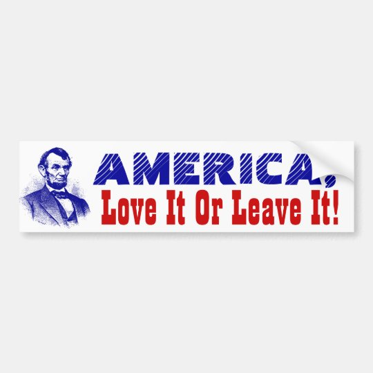 Bumper Stickers Flag America Love it or Leave it