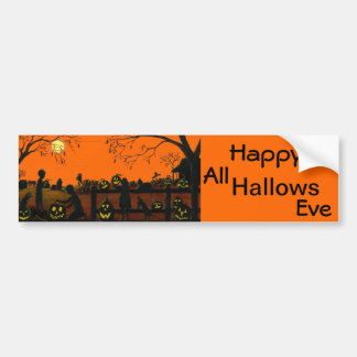 Bumper,stickers,Halloween,vintage,cat,dog,farm Bumper Sticker