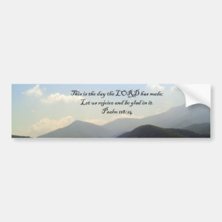 Bumper Stickers: Mountain Scenery with Psalm Bumper Sticker
