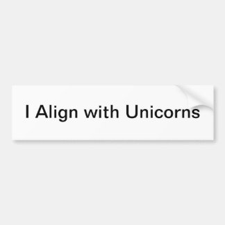 bumper unicorn bumper sticker