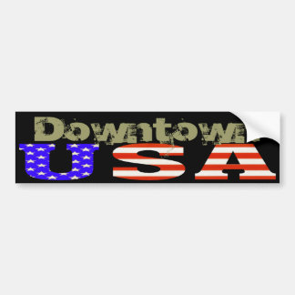 Bumpers USA Customized, Downtown Bumper Sticker