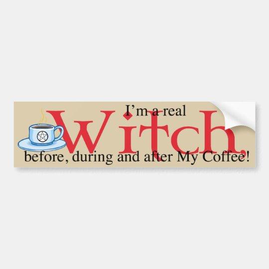 bumpersticker Coffee Witch Bumper Sticker