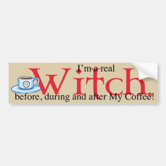 bumpersticker Coffee Witch Bumper Stickers