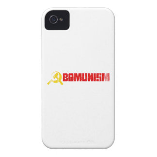 BUMPERSTICKER - OBAMUNISM RED- Faded.png iPhone 4 Cover