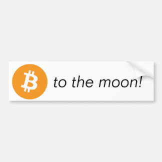 Bumpersticker - To The Moon! Bumper Sticker
