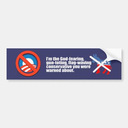 BUMPERTEMPLATE - God fearing conservative Bumperst Bumper Sticker