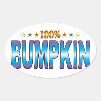 Bumpkin Star Tag v2 Oval Stickers