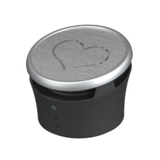 Bumpster Speaker SILVER SCREEN HEART CHROME EDGE